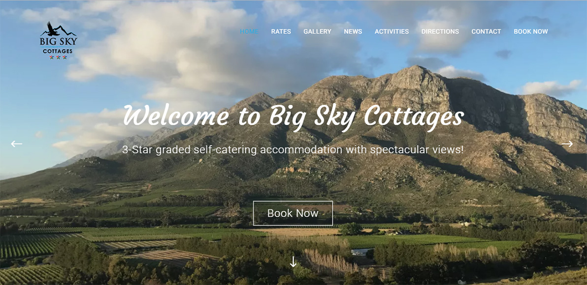 Big Sky Cottages Website