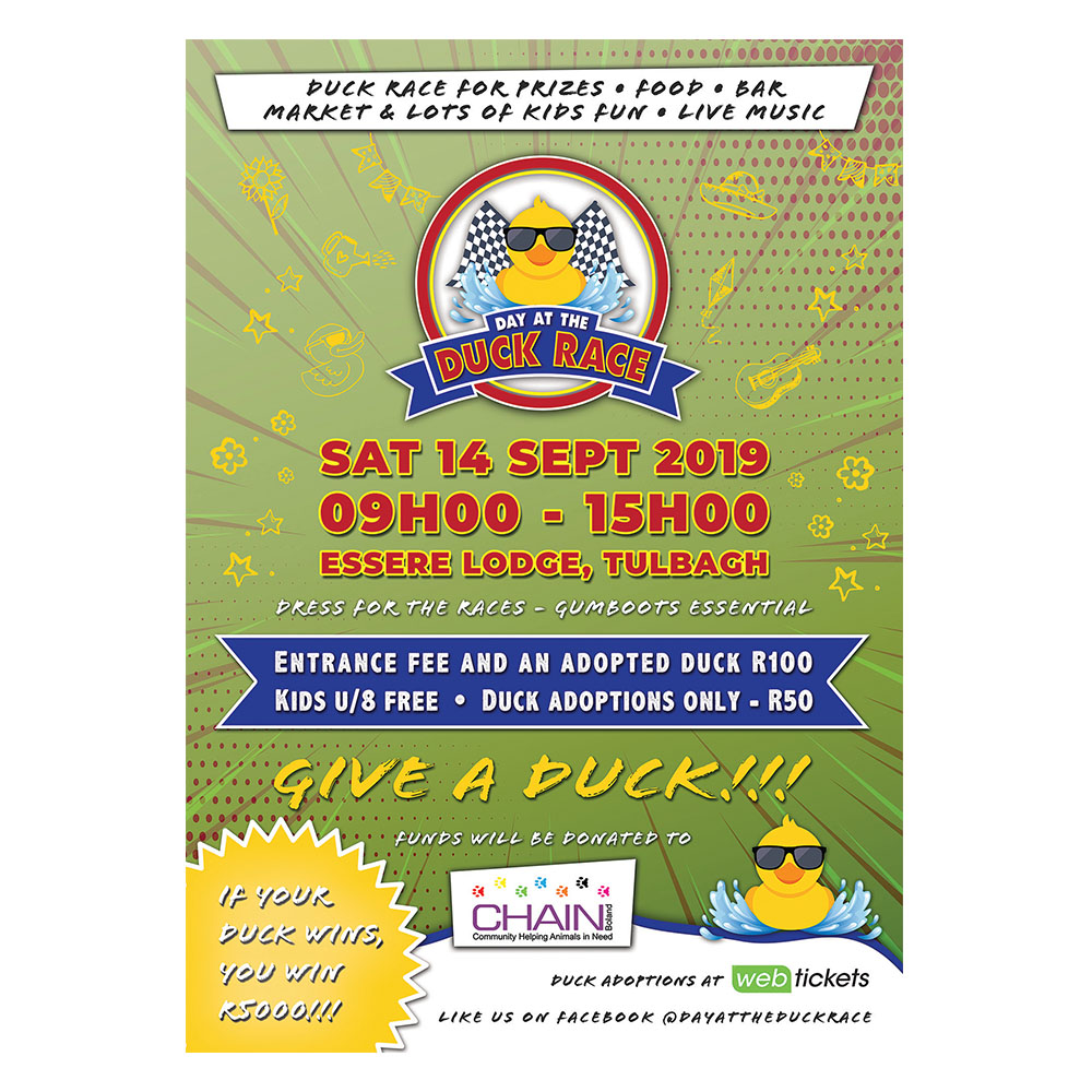 Day at the Duck Race Poster